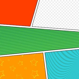 Style pop-art de modèle de mise en page vierge comique.