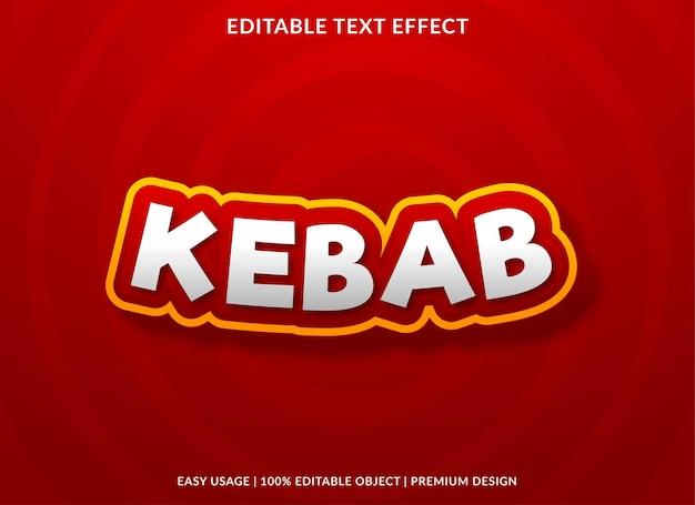 Style premium effet de texte modifiable kebab