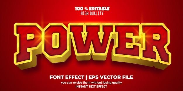 Style de puissance d'effet de texte modifiable