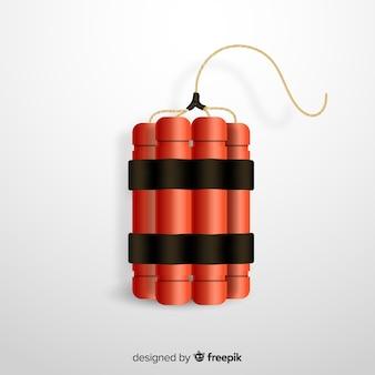 Style réaliste de bombe de dynamite rouge
