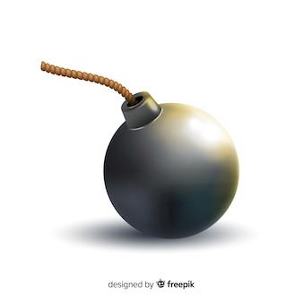 Style réaliste de bombe noire ronde