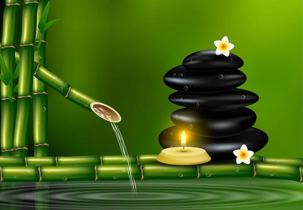 Style réaliste, défini pour les traitements de spa avec du sel aromatique