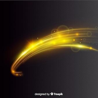 Style réaliste d'effet de lumière courbe