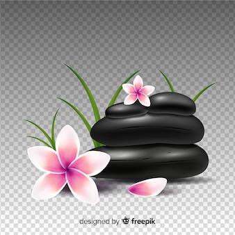 Style réaliste de pierres de fond de spa