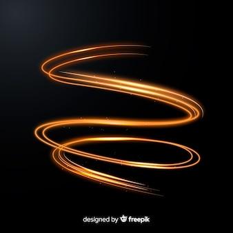 Style réaliste en spirale dorée brillante