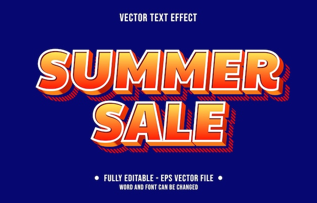 Style de remise de vente d'été avec effet de texte modifiable