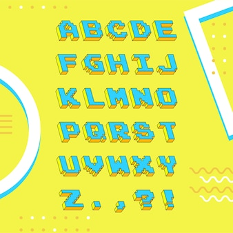 Style rétro alphabet