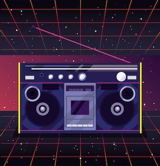 Style rétro années 80