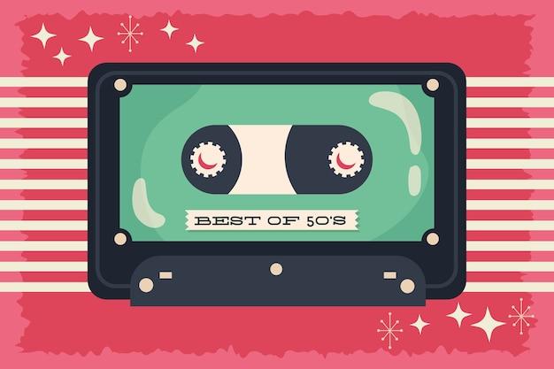 Style rétro avec design d & # 39; illustration vectorielle cassette de musique