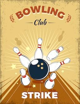 Style rétro du club de bowling