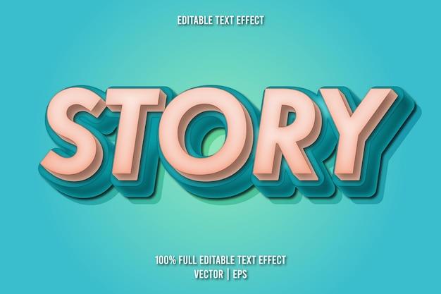 Style rétro d'effet de texte modifiable d'histoire