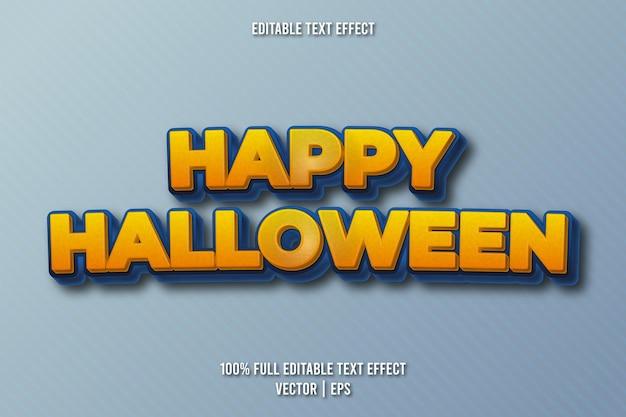 Style rétro d'effet de texte modifiable joyeux halloween