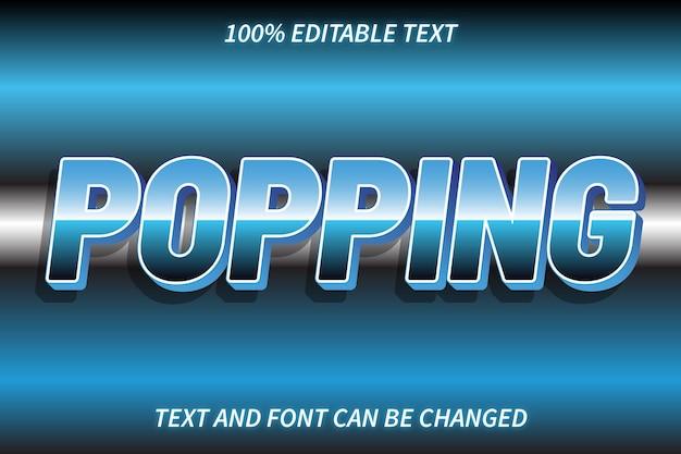 Style rétro d'effet de texte modifiable popping