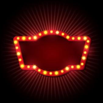Style rétro enseigne avec lampes