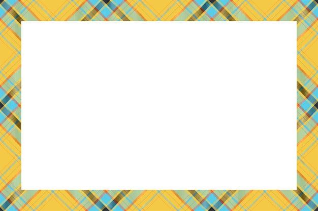 Style rétro de modèle de frontière écossaise.