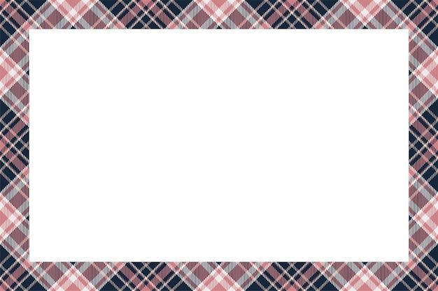 Style rétro de modèle de frontière écossaise