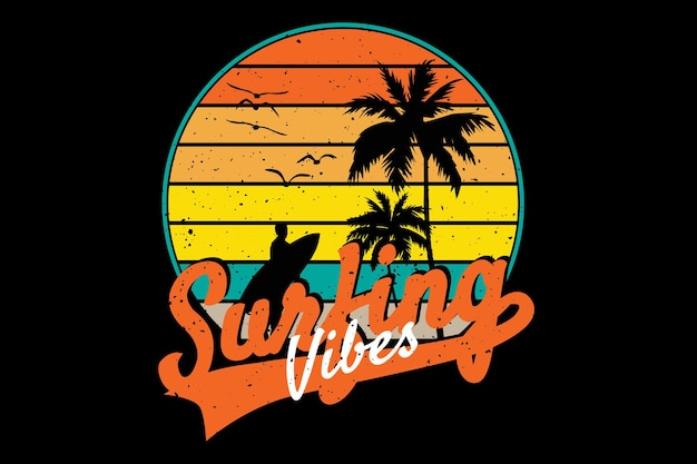 Style rétro de surf