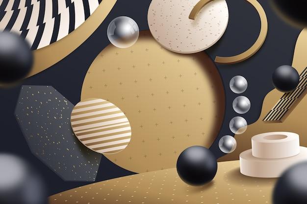 Style de scène géométrique rétro 3d