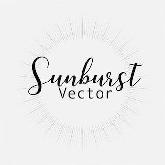 Style sunburst isolé sur fond blanc