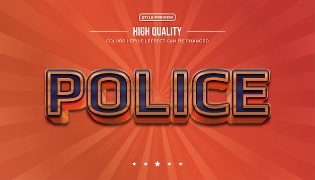 Style de texte 3d audacieux bleu et orange avec effet en relief