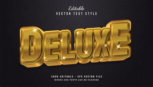 Style de texte 3d deluxe avec texture et effet brillant