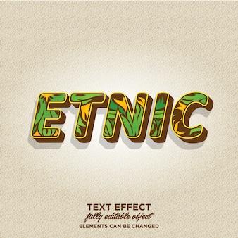 Style de texte 3d avec motif tribal