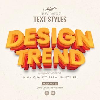Style de texte 3d