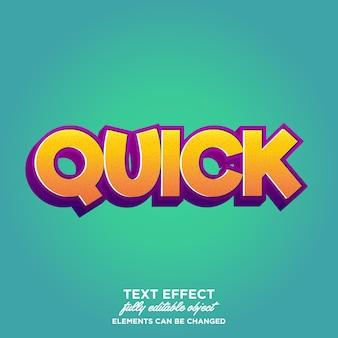 Style de texte amusant coloré de dessin animé moderne