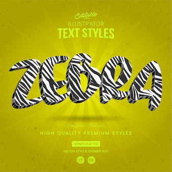 Style de texte animal zebra