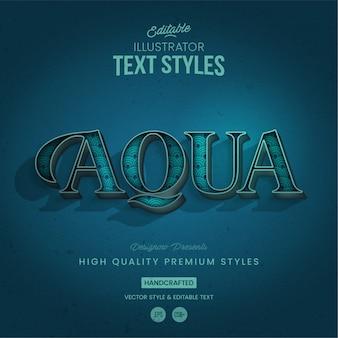 Style de texte aqua