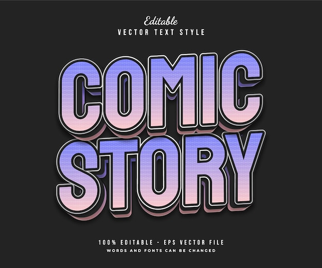 Style de texte de bande dessinée colorée avec effet en relief, peut être utilisé pour le titre du film, le titre ou la typographie