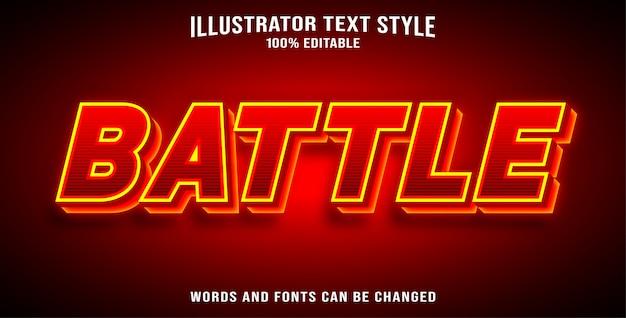Style de texte - bataille