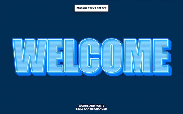 Style de texte de bienvenue