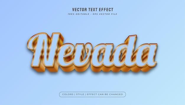 Style de texte bleu clair et or avec effet en relief