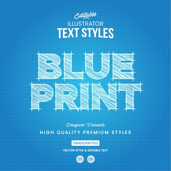 Style de texte blueprint