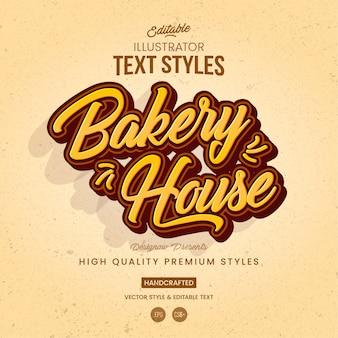 Style de texte de boulangerie