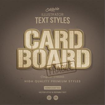 Style de texte en carton