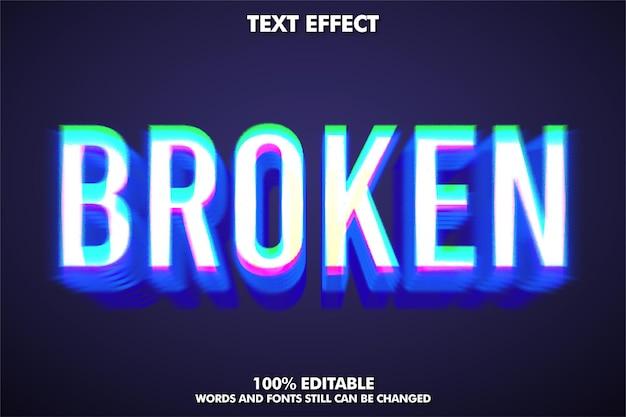 Style de texte cassé et moderne avec effet de pépin