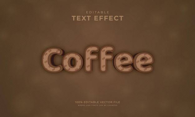 Style de texte de couleur café effet texte modifiable