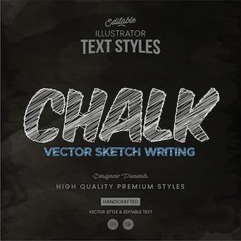 Style de texte à la craie