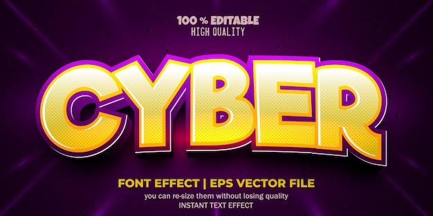 Style de texte cyber effet de police modifiable