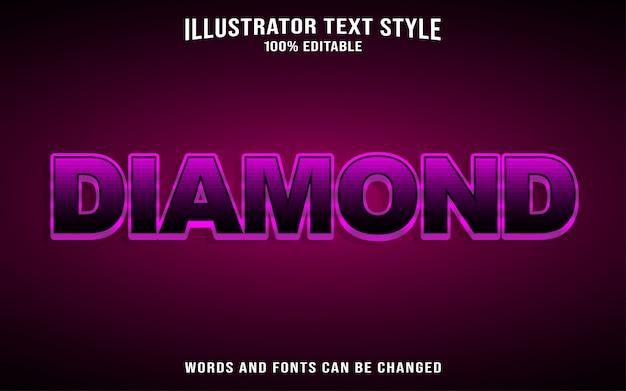 Style de texte en diamant