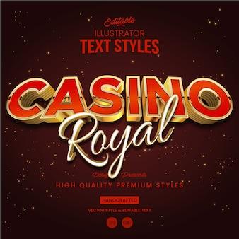 Style de texte du casino royal