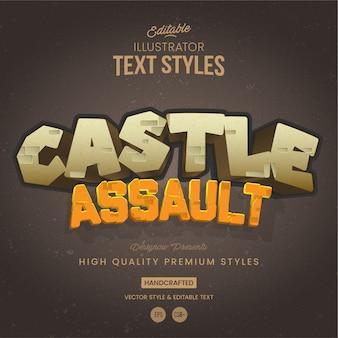 Style de texte du château de pierre
