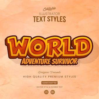 Style de texte du jeu d'aventure