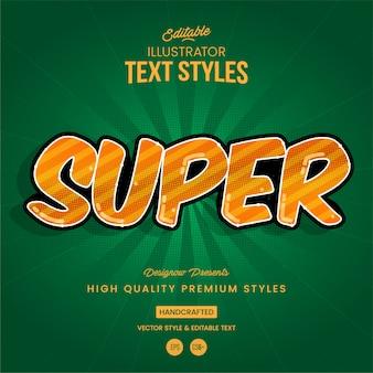 Style de texte du super héros