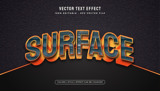 Style de texte élégant et audacieux avec effet de pellicule plastique
