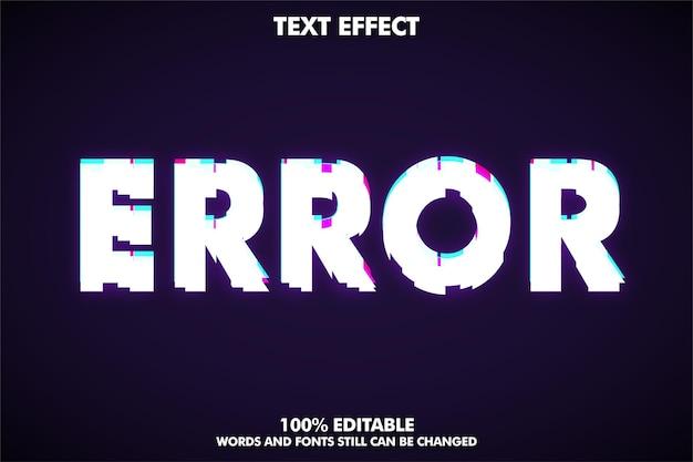 Style de texte d'erreur d'effet de texte glitch