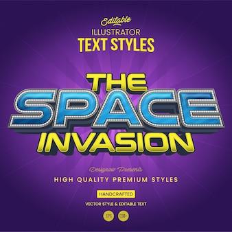 Style de texte de l'espace futuriste