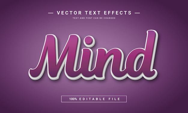 Style de texte d'esprit en effet de style de texte modifiable effet violet et blanc